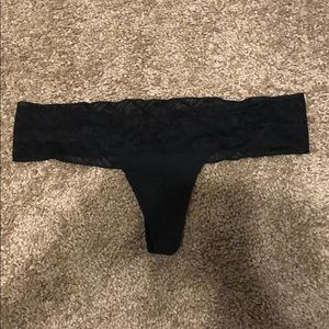 Victoria's Secret PINK - Small BLACK LACE THONG